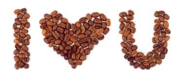 Coeur fait de café Photos libres de droits