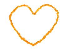 Coeur fait de caviar Images stock