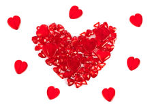 Coeur fait de coeurs décoratifs Photo stock