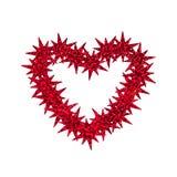 Coeur fait de confettis d'étoile Images stock
