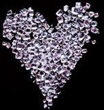Coeur fait de cristaux minuscules de sucre Photo stock