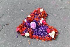Coeur fait de fleurs coupées Image libre de droits