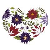 Coeur fait de fleurs d'éléments illustration libre de droits