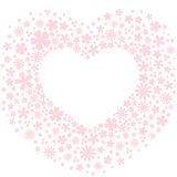 Coeur fait de fleurs rose-clair illustration de vecteur