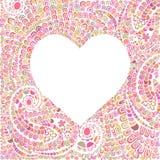Coeur fait de lignes gribouillantes Photos libres de droits