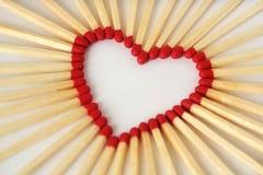 Coeur fait de matchs - concept d'amour Photos libres de droits