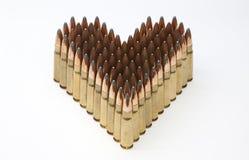 Coeur fait de munitions de fusil Image libre de droits