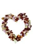 Coeur fait de pétales de rose Photographie stock
