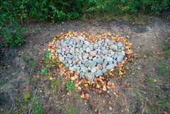 Coeur fait de pierres Image libre de droits