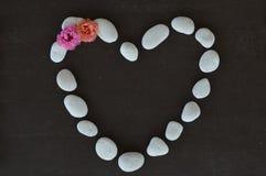 Coeur fait de pierres Images stock