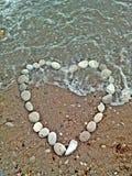 Coeur fait de pierres Photo libre de droits