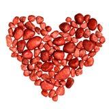 Coeur fait de pierres décoratives Photo libre de droits