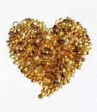 Coeur fait de pierres d'or Image libre de droits