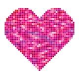Coeur fait de pixels Image stock