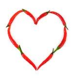 Coeur fait de poivre Photos libres de droits