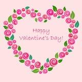 Coeur fait de roses Photo stock