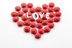 Coeur fait de sucreries Photos libres de droits