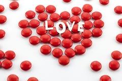 Coeur fait de sucreries Image stock