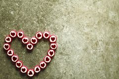 Coeur fait de sucreries de sucre Photographie stock libre de droits