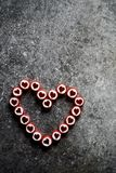Coeur fait de sucreries de sucre Photo stock