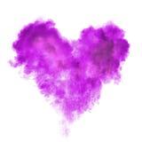 Coeur fait en explosion de poudre noire d'isolement Image libre de droits