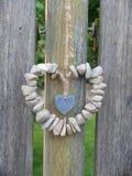 Coeur fait en pierre photographie stock