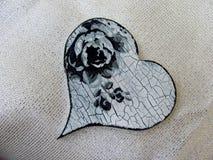 Coeur fait main de Decoupage Photos libres de droits