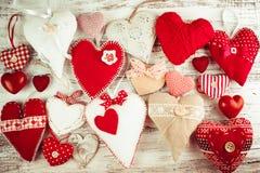 Coeur fait main de Valentine Images stock