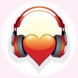 Coeur-famille-musique Image stock