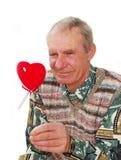 Coeur faux de conservation aîné. Image libre de droits