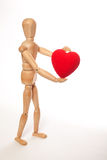 Coeur fictif et rouge photographie stock libre de droits