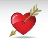 Coeur-flèche Images stock