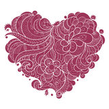 Coeur fleuri floral de Valentine Photographie stock