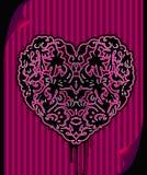 Coeur fleuri noir d'emo Photographie stock libre de droits