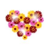 Coeur floral Photos stock