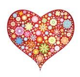 Coeur floral Photo libre de droits