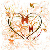 Coeur floral Photo stock