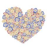 Coeur floral illustration libre de droits