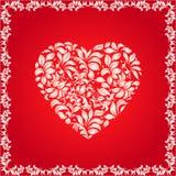 Coeur floral Image libre de droits