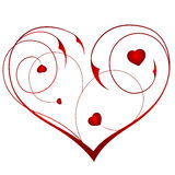 coeur floral Photographie stock libre de droits