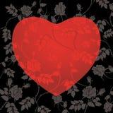 Coeur floral abstrait illustration stock