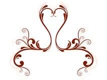 Coeur floral abstrait illustration de vecteur