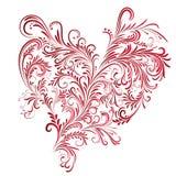 Coeur floral abstrait Photos libres de droits