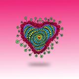 Coeur floral abstrait Images stock