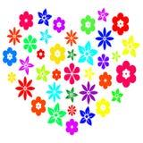 Coeur floral coloré Photos libres de droits