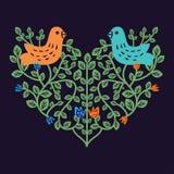 Coeur floral décoratif Photos libres de droits