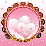 Coeur floral de fond Image stock