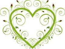 Coeur floral de Rose Images libres de droits
