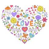 Coeur floral de valentines Photographie stock libre de droits
