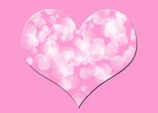 Coeur floral rose Images libres de droits
